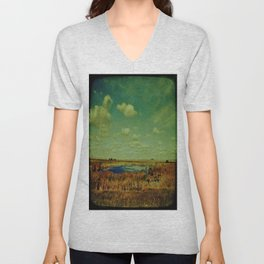 prairie lake Unisex V-Neck
