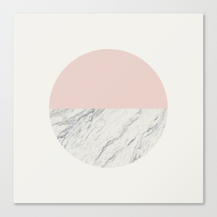 Moon Marble Canvas Print