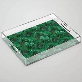 malachite Acrylic Tray