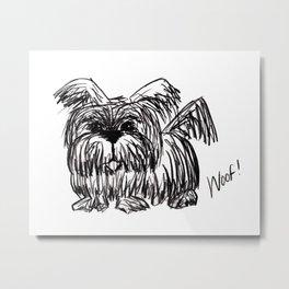 Woof :: A Dust Mop Dog Metal Print