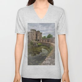 Pathway By The Castle Moat Unisex V-Neck