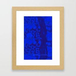 mon jardin bleu Framed Art Print