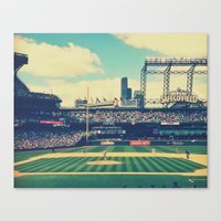 yankees Canvas Prints featuring Mariano Rivera - last pitch in Seattle by Jeremiah Gallagher