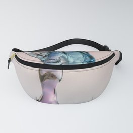 Red and Blue Water drop collision Fanny Pack
