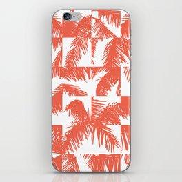 Palm Leaf Pattern Orange iPhone Skin