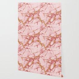 Blush Gold Marble || #society6 #decor #buyart Wallpaper