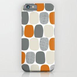 Wonky Ovals in Orange iPhone Case