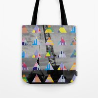 postcard Tote Bags featuring Postcard by [ g ]