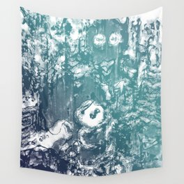 Inky Shadows - Blue edition Wall Tapestry