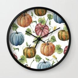 PUMPKINS WATERCOLOR Wall Clock