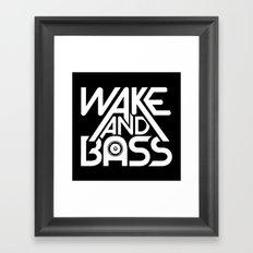 Wake And Bass (White) Framed Art Print