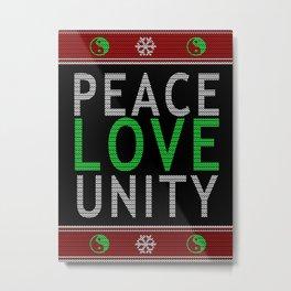Peace Love & Unity Metal Print