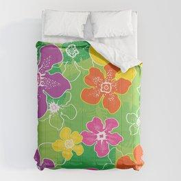 Hawaiian inspired tropical florals Comforters