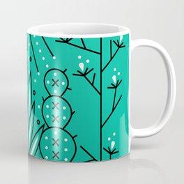 Santa Fe Garden – Turquoise & Black Coffee Mug