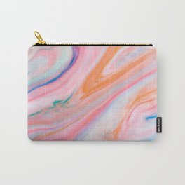Rainbow Marble Agate Carry-All Pouch