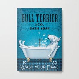 Bull Terrier Bull Terrier Bathtub Metal Print