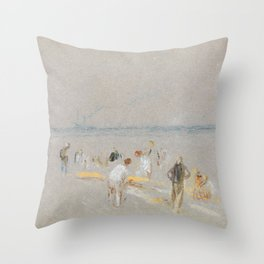 "J.M.W. Turner ""Cricket on the Goodwin Sands"" Throw Pillow"