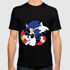 Sonic Mens Fitted Tee Black SMALL