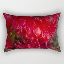 Scarlet Featherflower Rectangular Pillow