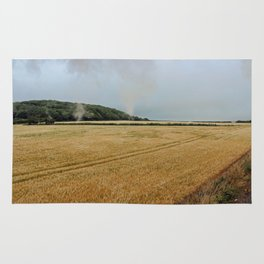 Countryside from a steam train Rug