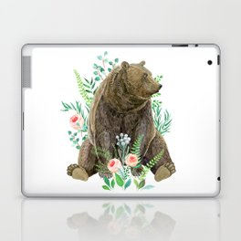 bear sitting in the forest Laptop & iPad Skin