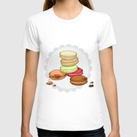 macarons T-shirts featuring Macarons | SCARLETTDESIGNS. by ScarlettDesigns