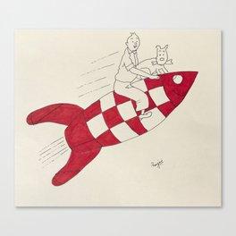 Tintin and Snowy Canvas Print