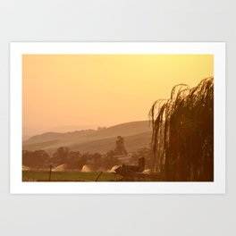SUNSET OVER EASTERN OREGON Art Print