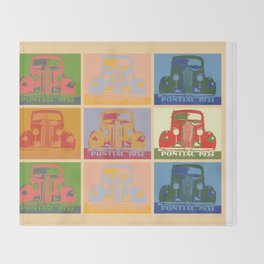 Pontiac 1935 9 times pop art style Throw Blanket