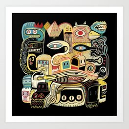 Mille regards Art Print