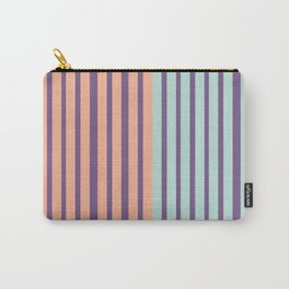 Minimal Abstract Apricot Purple SeaGreen 13 Carry-All Pouch