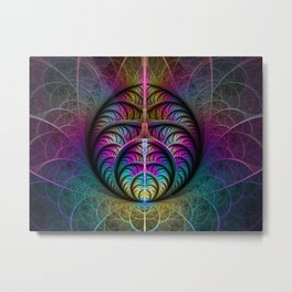 Colorful Fractal Art Fantasy Metal Print