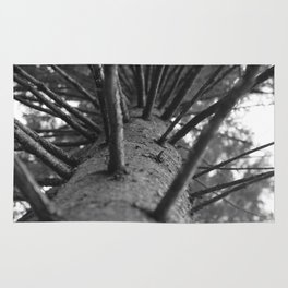 tree black and white photo Rug