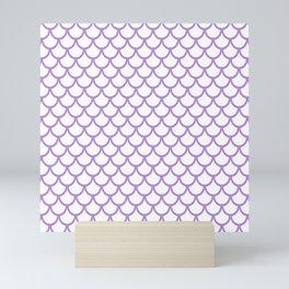 Scales (Lavender & White Pattern) Mini Art Print