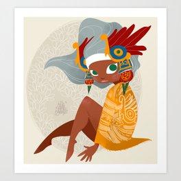 Aztec Diva Art Print