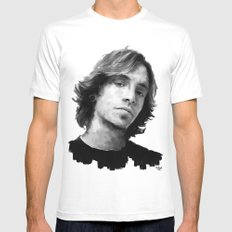 Brandon Boyd White Mens Fitted Tee MEDIUM