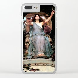 """John William Waterhouse """"Circe Offering the Cup to Odysseus"""" Clear iPhone Case"""