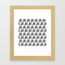 trad flower Framed Art Print