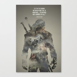 Geralt of Rivia - Witcher Canvas Print