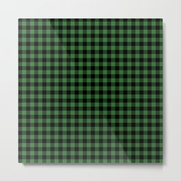 Classic Green Country Cottage Summer Buffalo Plaid Metal Print