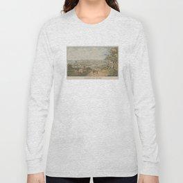 Vintage Pictorial Map of Cincinnati OH (1841) Long Sleeve T-shirt