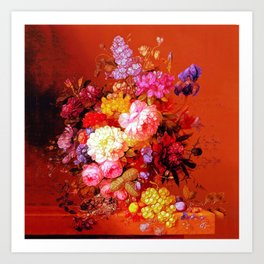 Passion Fruits and Flowers Art Print