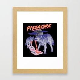 Pizzavore Framed Art Print