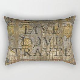Live Love Travel Rectangular Pillow