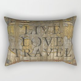 Live Love Travel Rectangular Pillow