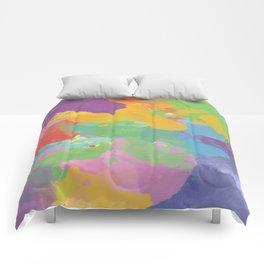 Watercolor Splatter Comforters