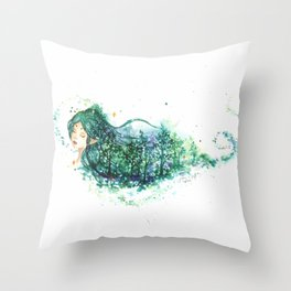 Elven Forest Throw Pillow