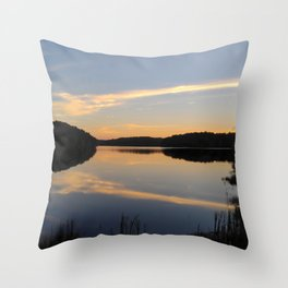 Abstraction of Lake at sunset Throw Pillow