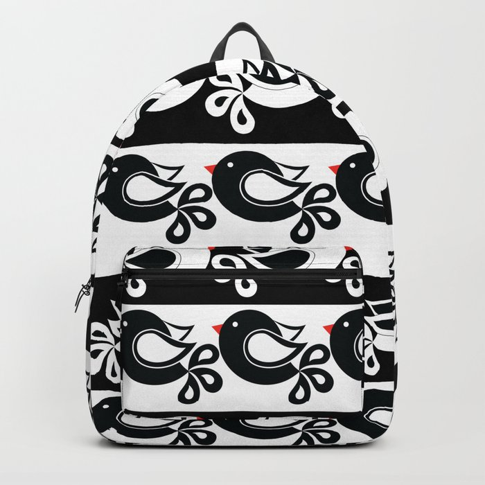 black and white birds Backpack