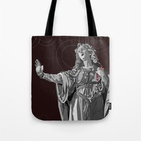 agnes Tote Bags featuring Agnes by Kelly Kistler